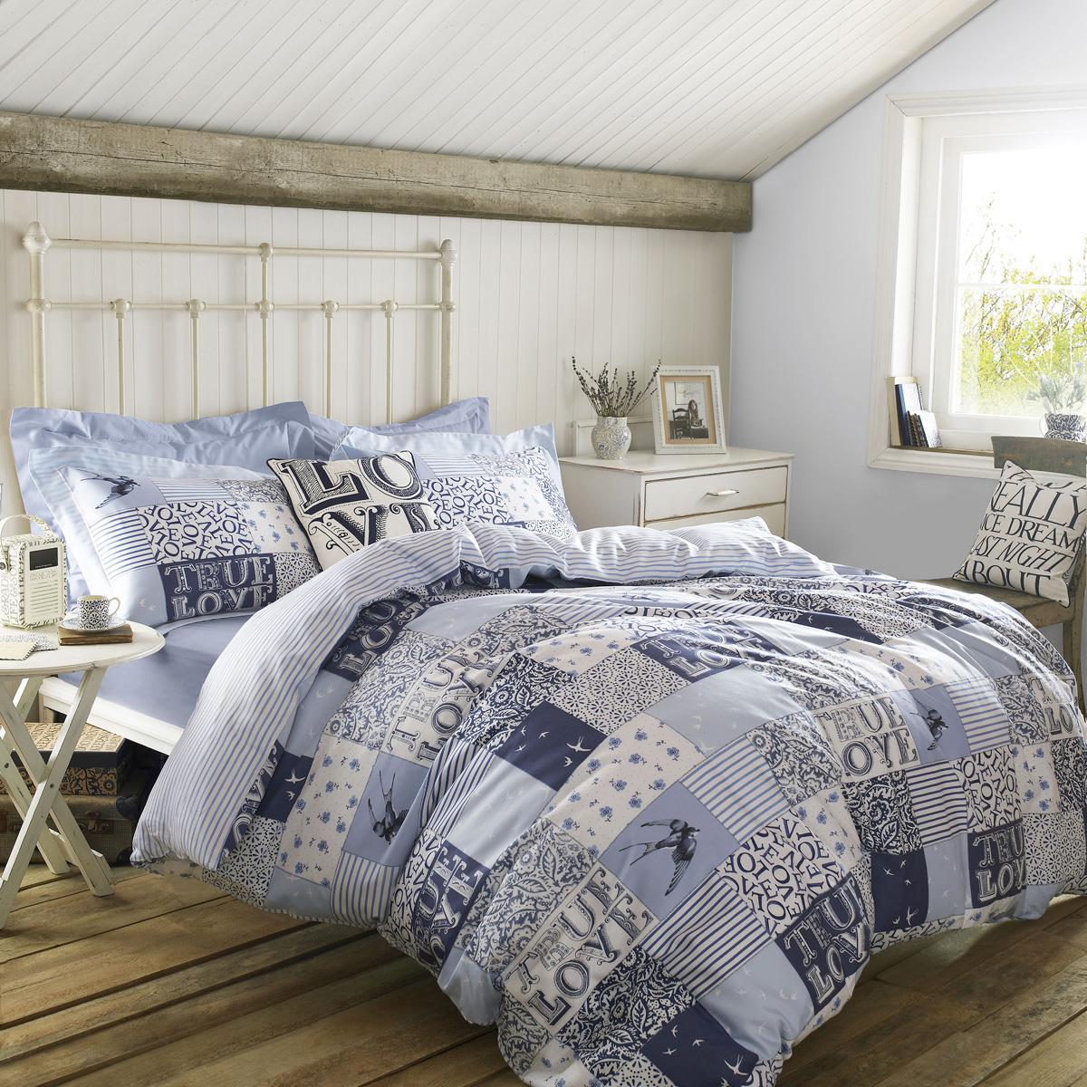 Blue Emma Bridgewater Blue Patchwork Bedding