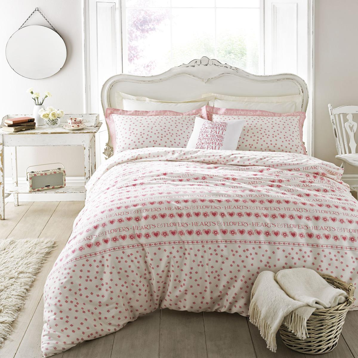 Pink Emma Bridgewater Hearts and Flowers Bedding
