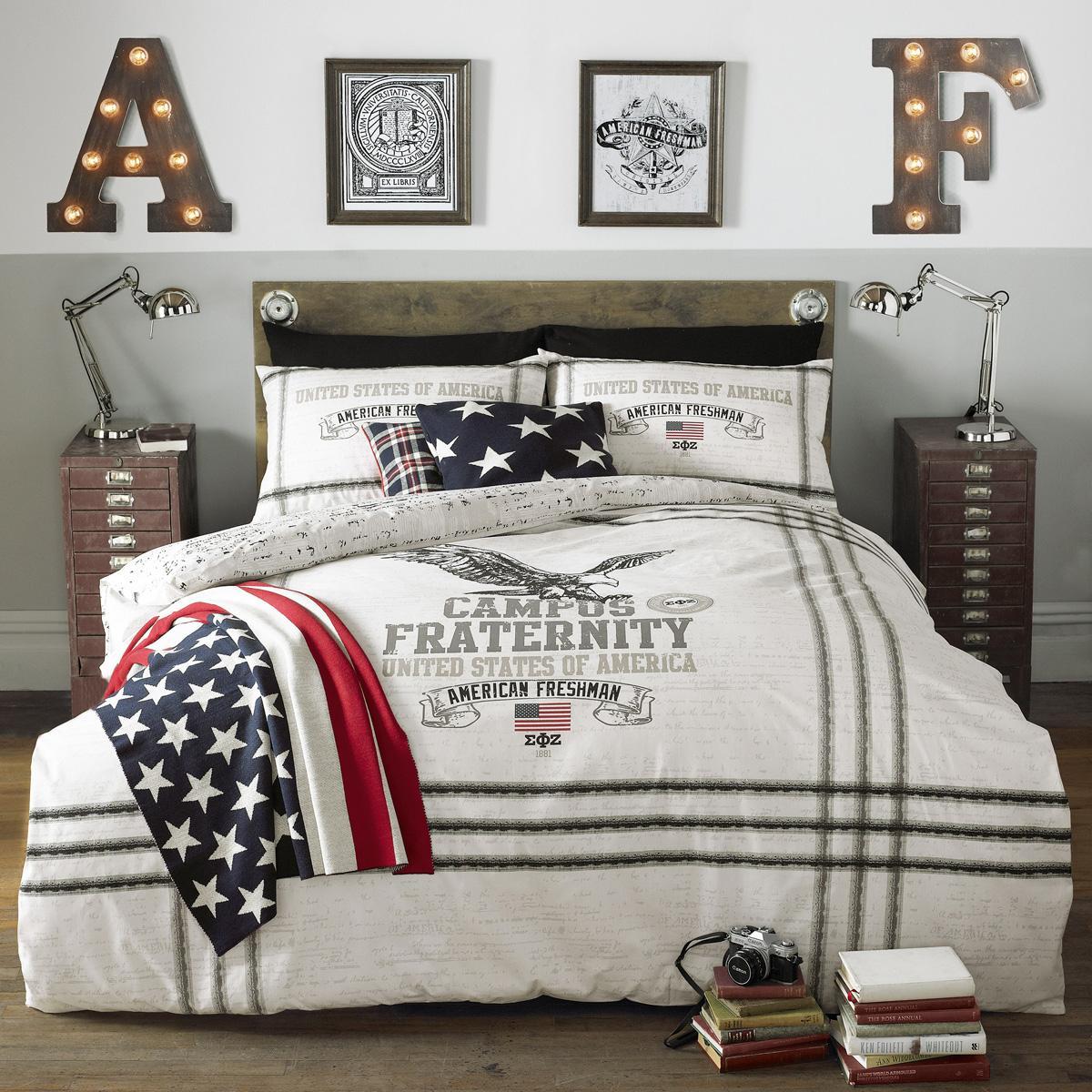 Charcoal American Freshman Eagle Bedding