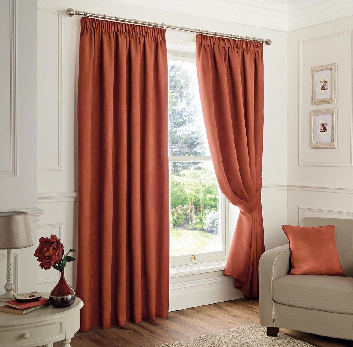 Spice Faux Suede Blackout Readymade Curtains