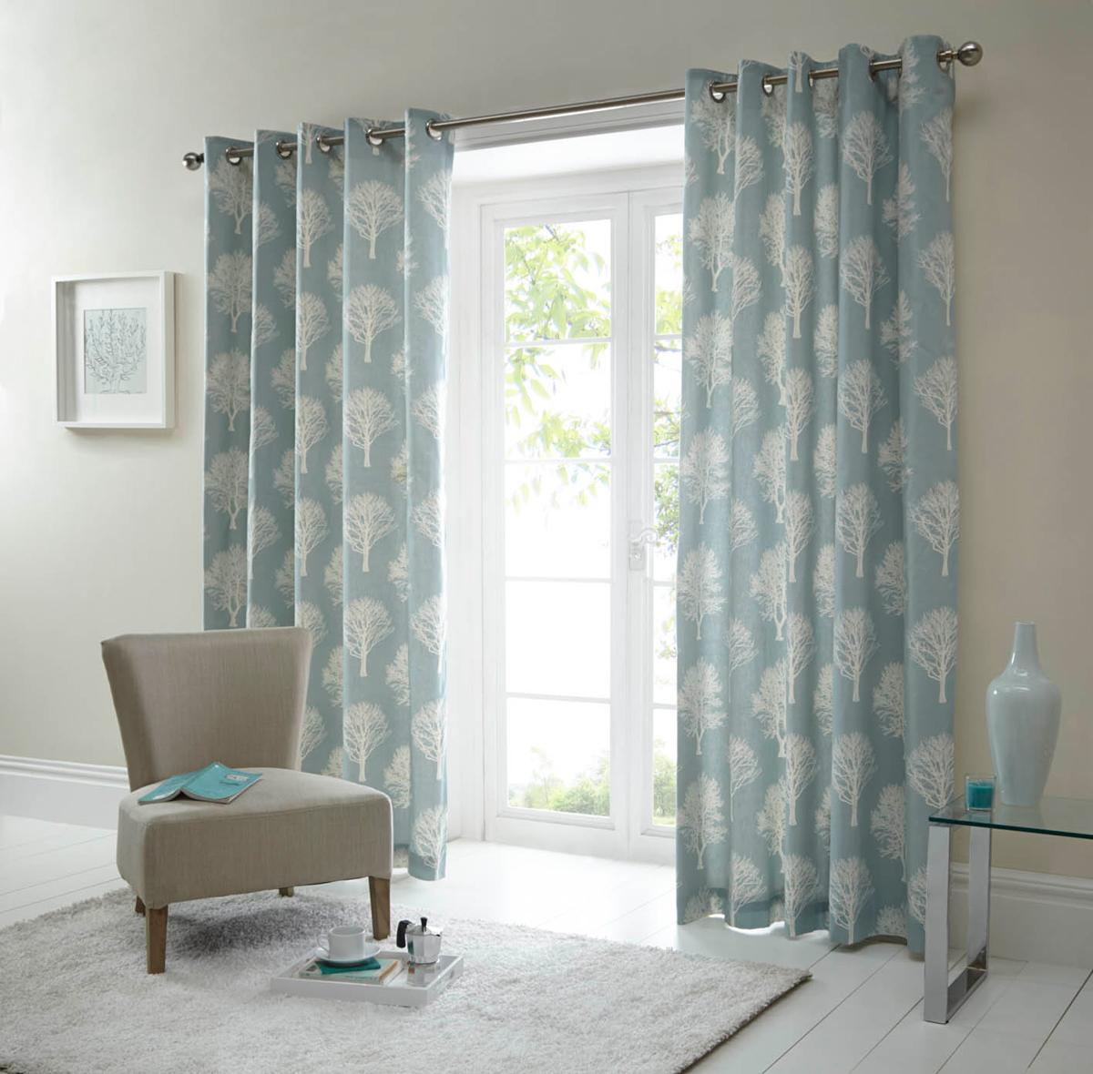 Blue lined curtains shop for cheap curtains blinds and for Space fabric dunelm