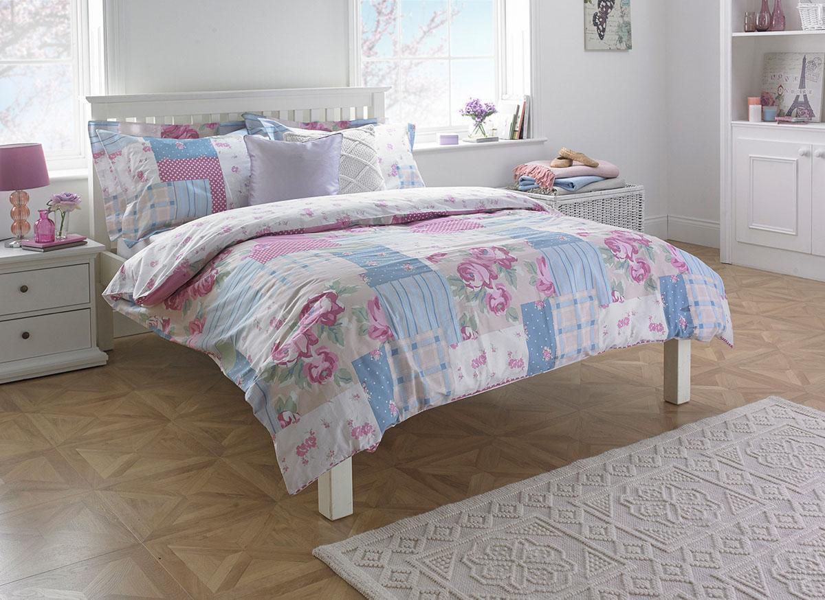 Pink Rosie Printed Bedding Set