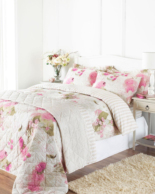 Neutral Memory Lane Printed Bedding Set