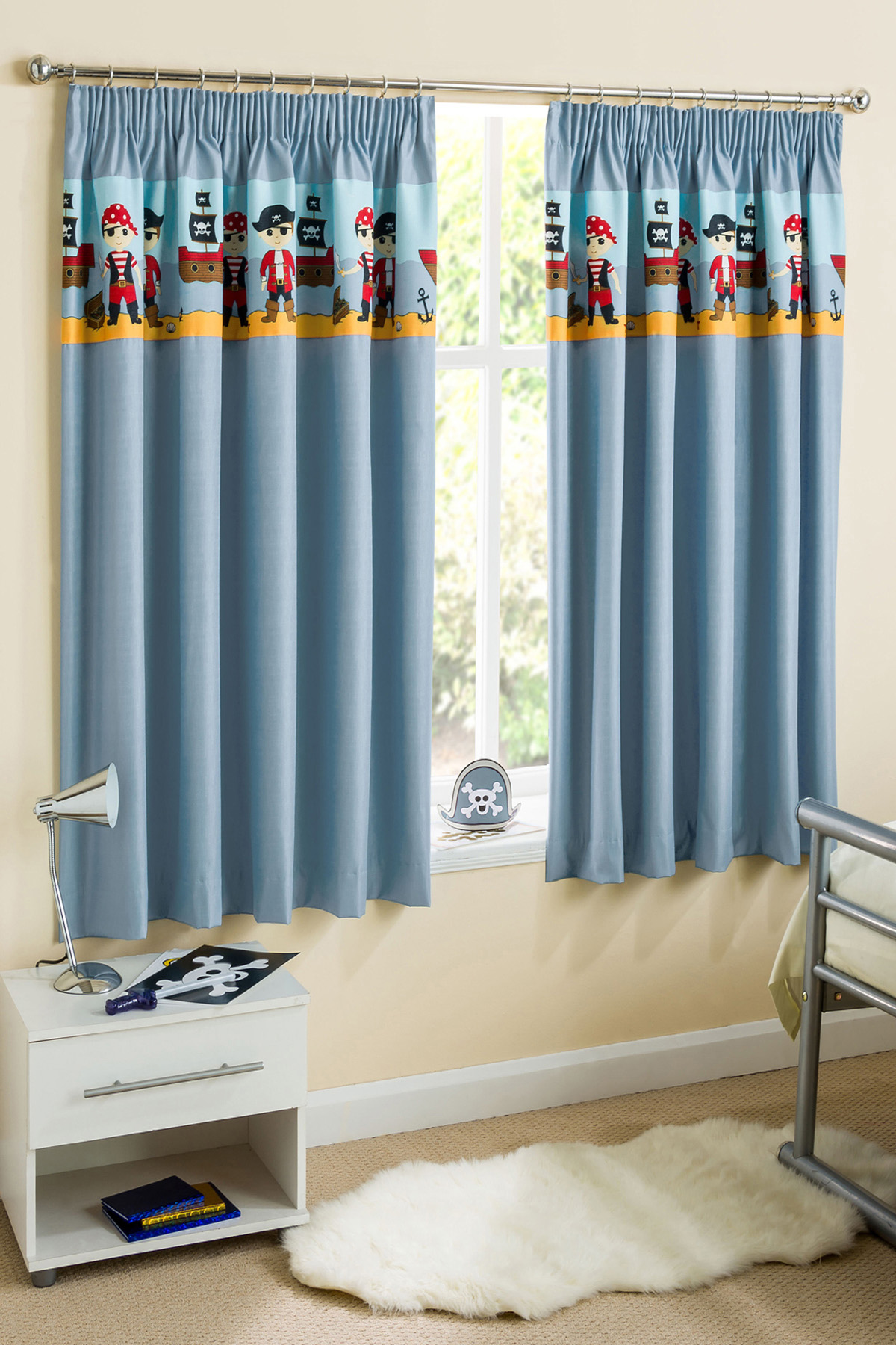 Blue Pirates Readymade Thermal Dim Out Curtains