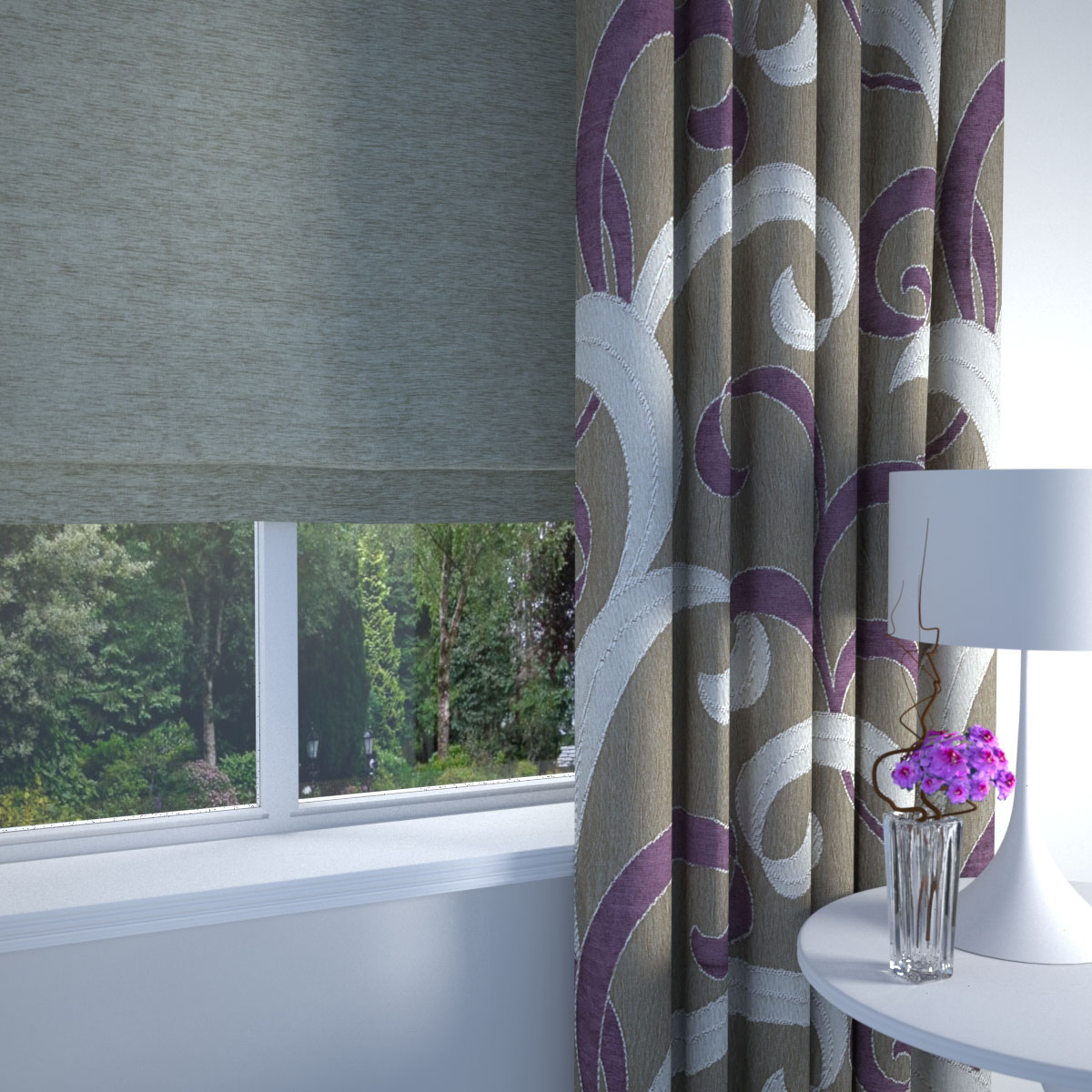 Aubergine Lincoln Made to Measure Curtains