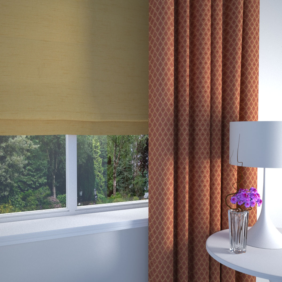 Terracotta Palermo Made to Measure Curtains