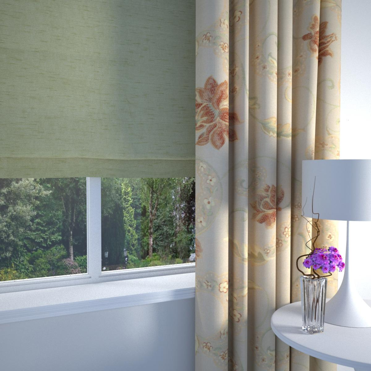 Terracotta Versailles Made to Measure Curtains