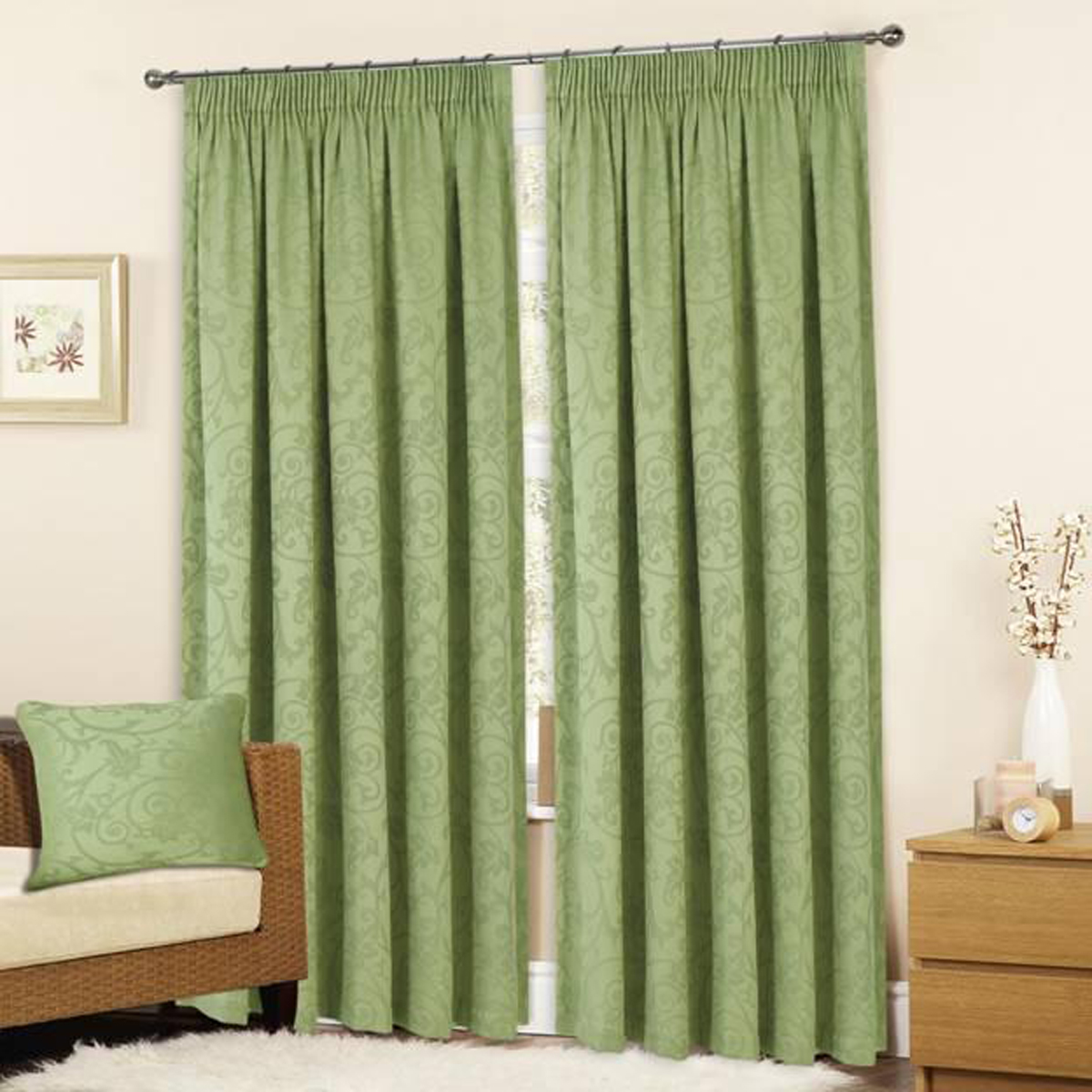Sage Green Curtains Green Bay Window Curtains Range Of Green Bay