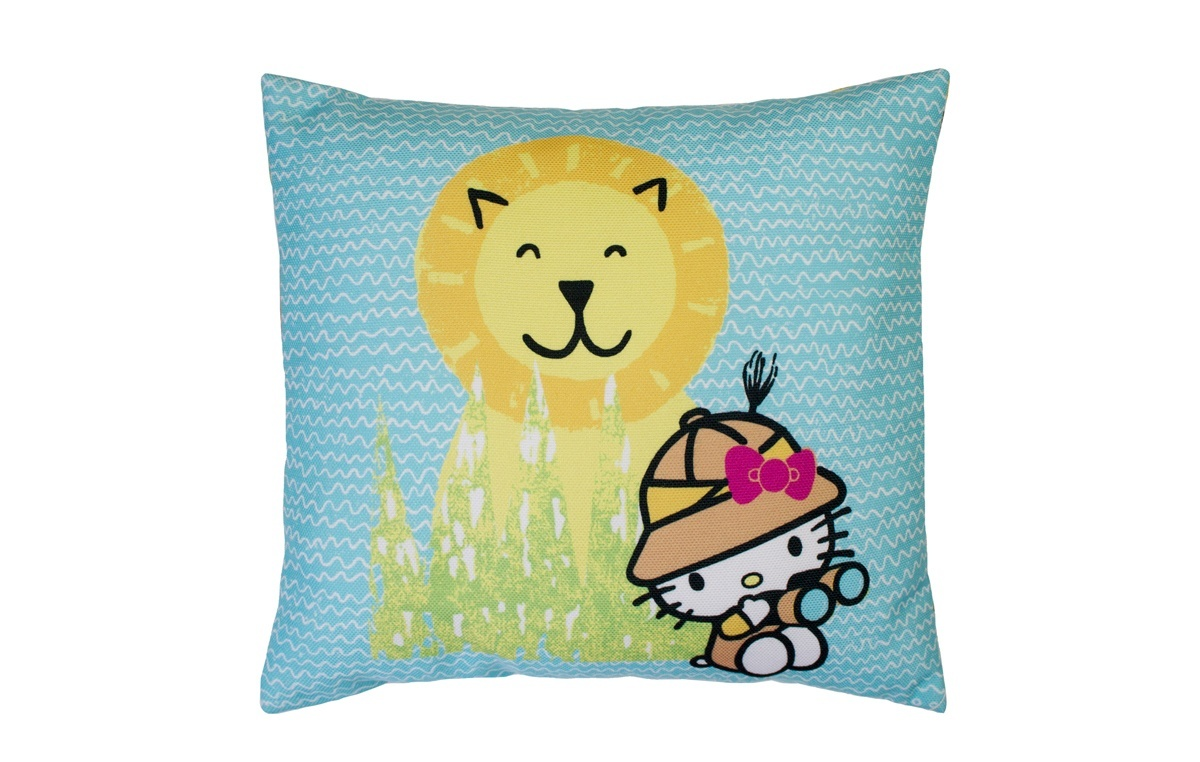Blue Hello Kitty Designers Guild World Traveller Filled Cushion