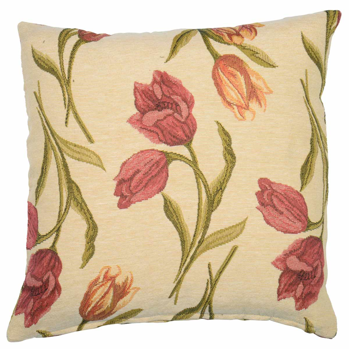 Natural Amsterdam Tulip Tapestry  Filled Cushion