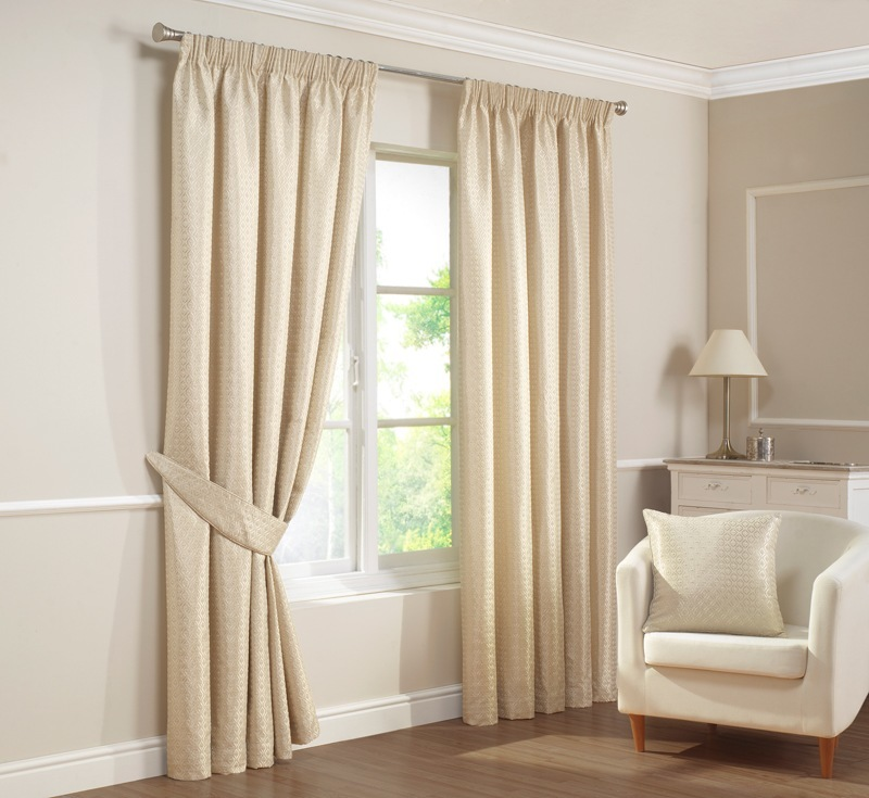 Natural Cambridge Ready Made Lined Curtains