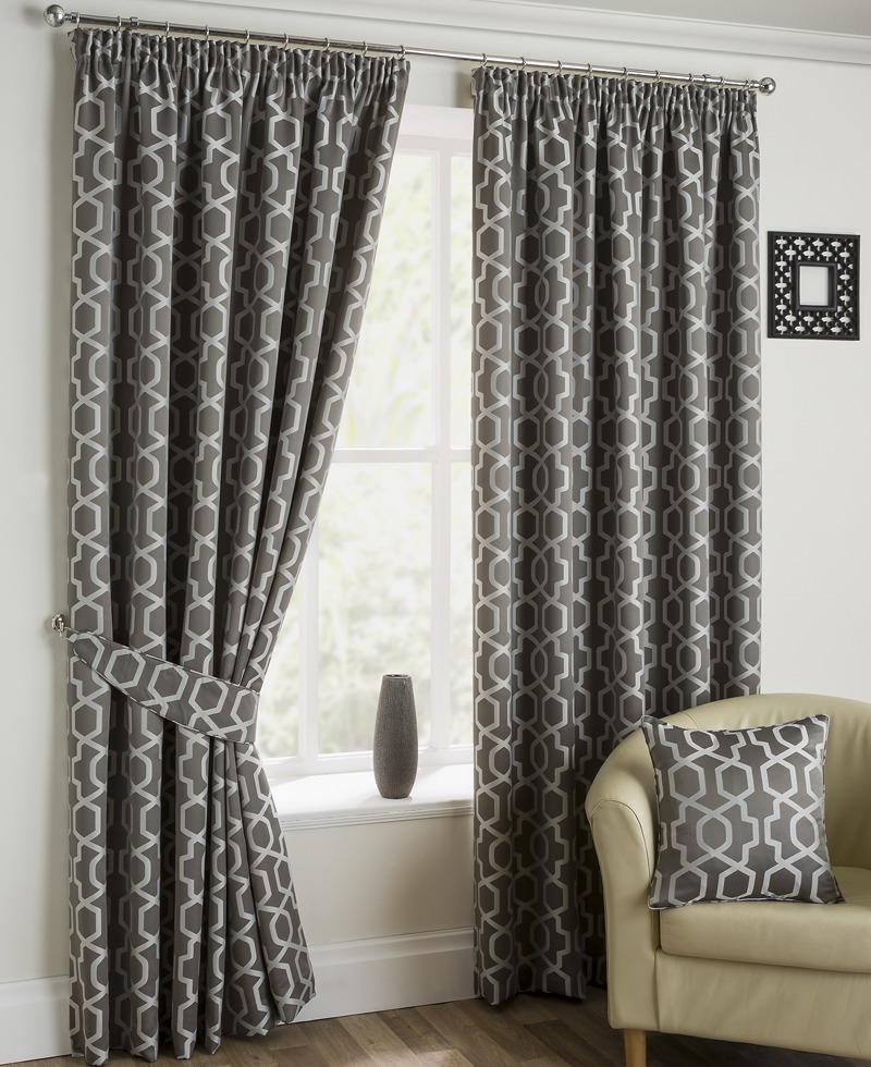 Pewter Oregon Ready Made Lined Curtains