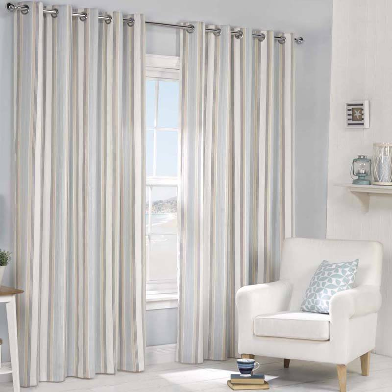 The Brighton Ready Curtains Have A Stylish Vertical Striped Design In