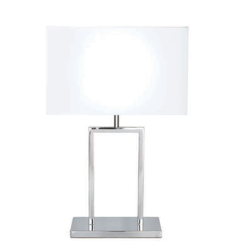 ChromeWhite Ellis Table Lamp