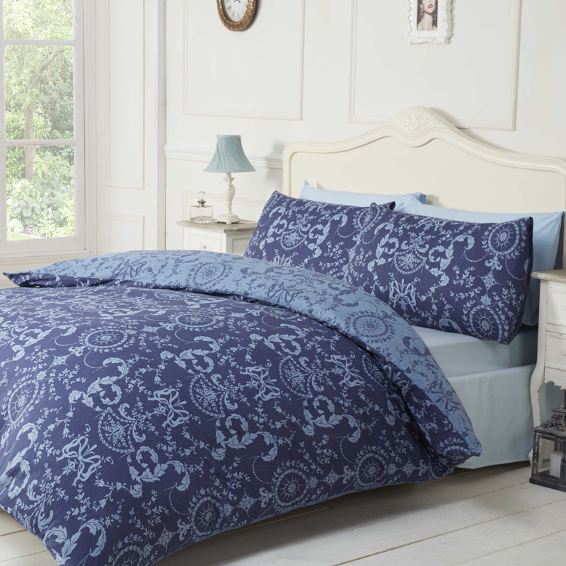 navy damask bedding introduce a classic look to your bedroom with the