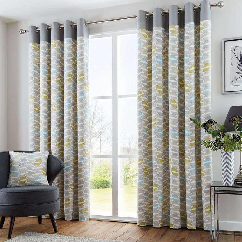 Duck Egg Copeland Ready Made Eyelet Lined Curtains