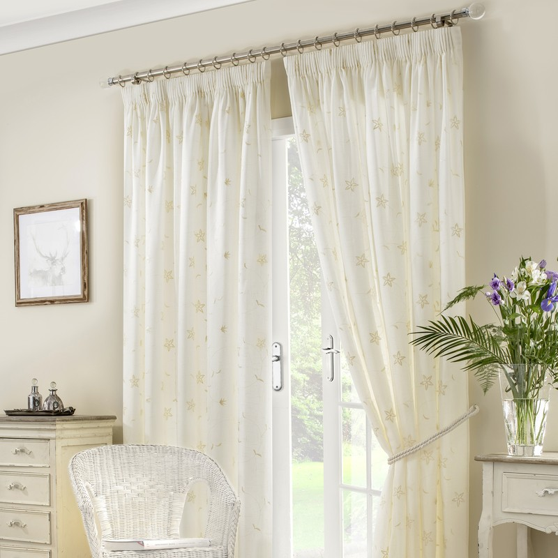 Ivory Seville Ready Made Lined Voile Curtains