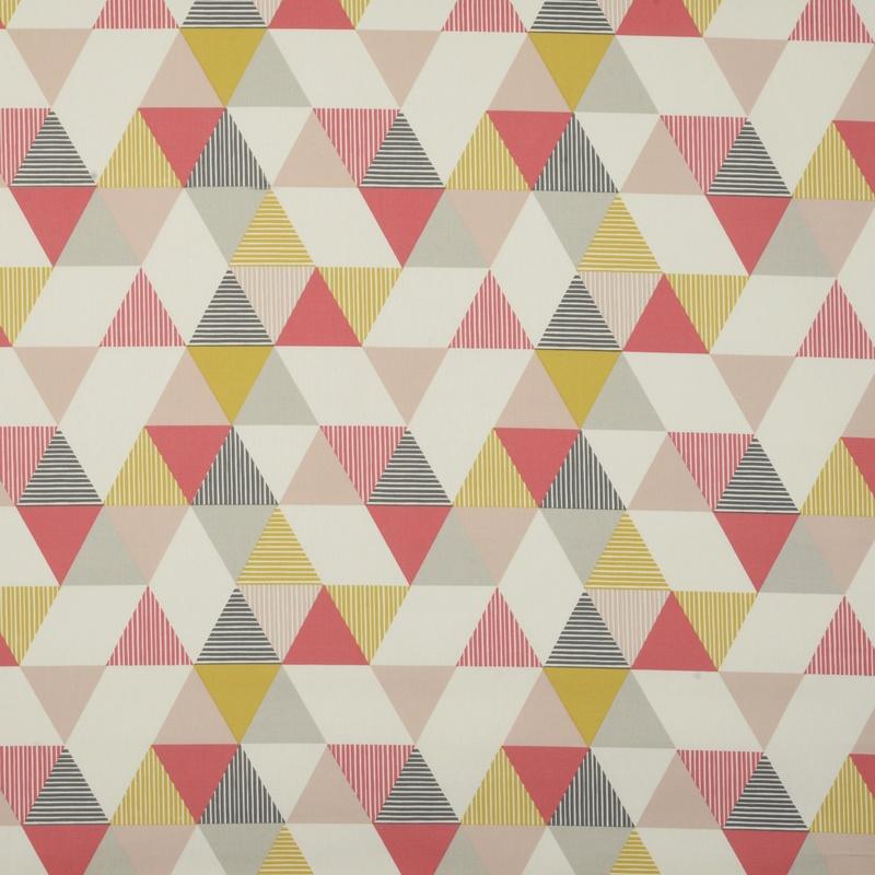 Coral Brio Curtain Fabric