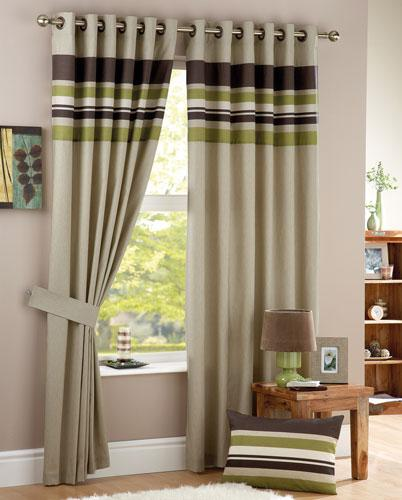 Click to view product details and reviews for Green Harvard Eyelet Ready Made Curtain.