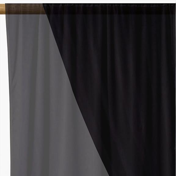 Black Organza Fabric