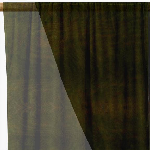Brown Organza Fabric
