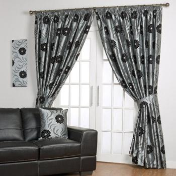Graphite Desire Ready Made Curtains