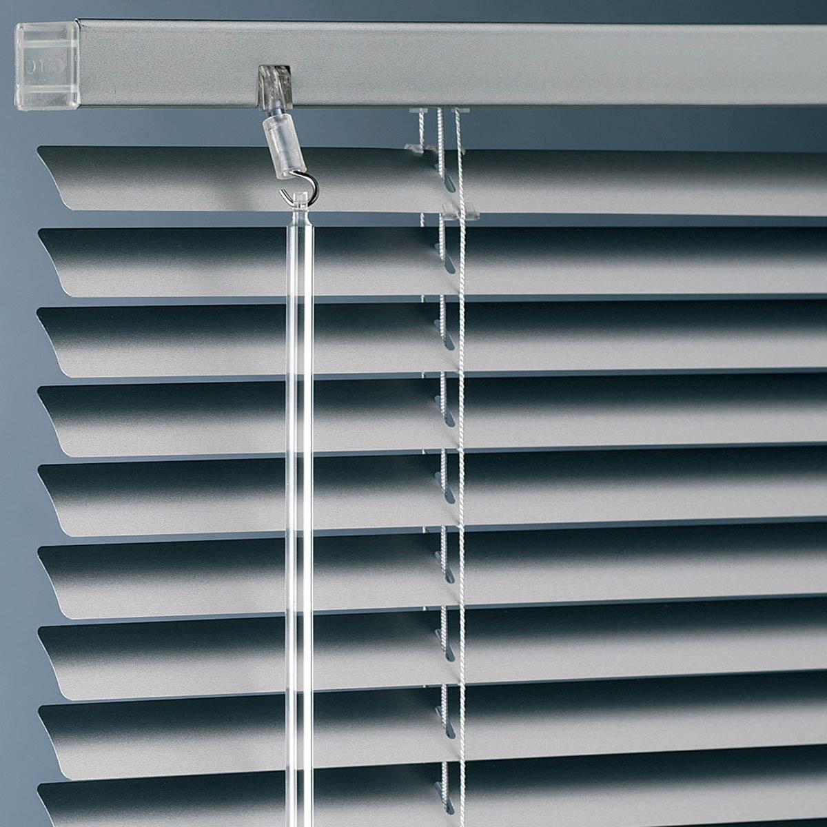 Metal Venetian Blinds in Silver
