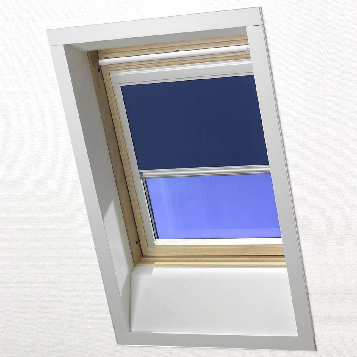 Blue Skylight Blackout Roller Blind for VELUX&reg Window