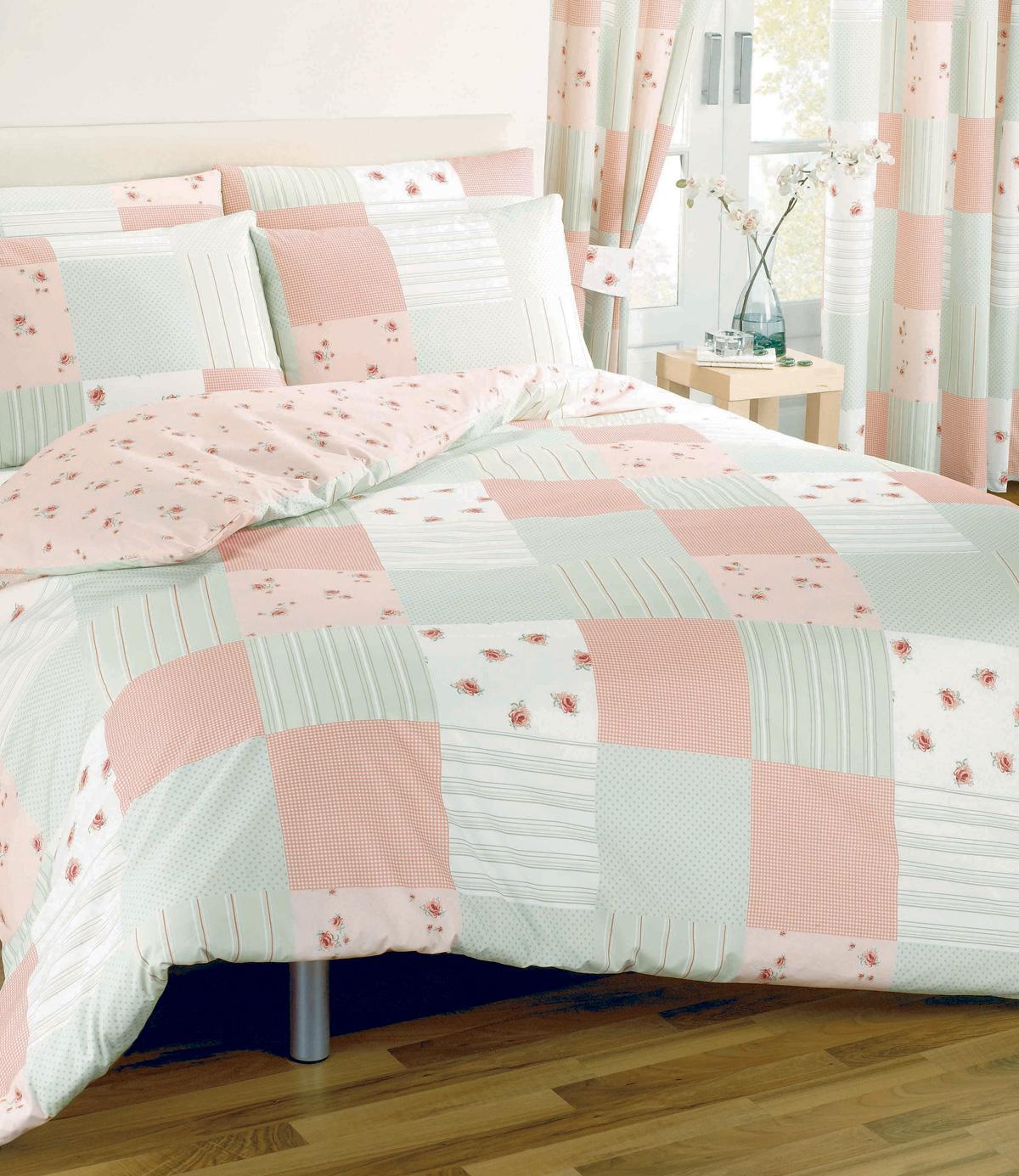 Pink Patchwork Duvet Cover