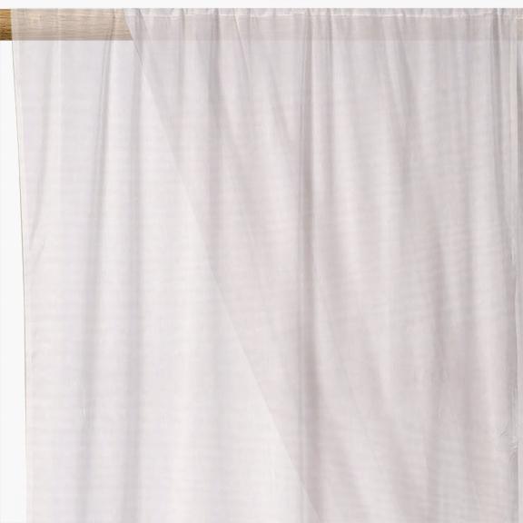 White Plain Voile Curtain Fabric