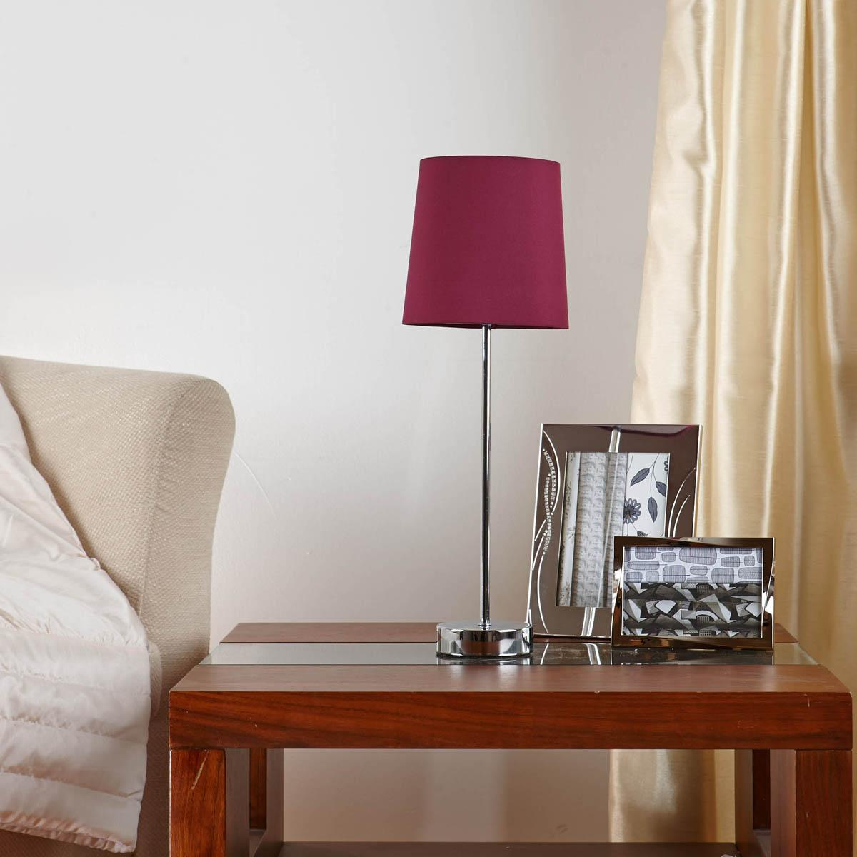 Aubergine Tall Stick Table Lamp