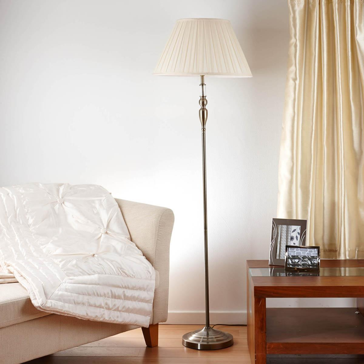 Antique Brass Margot Floor Lamp