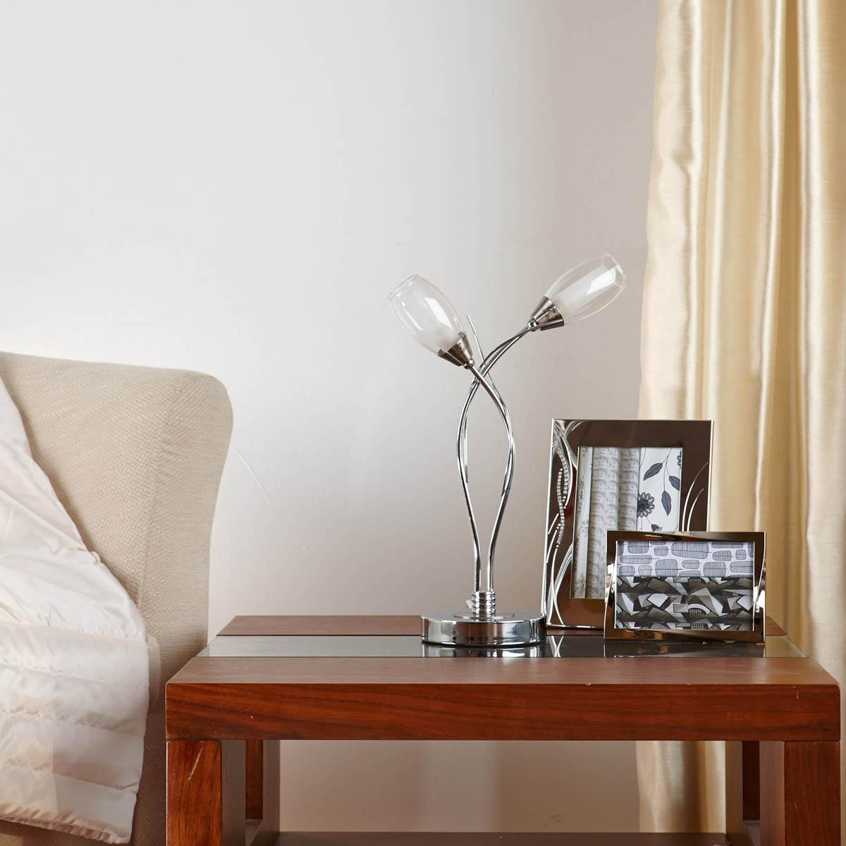 Polished Chrome Iris Table Lamp