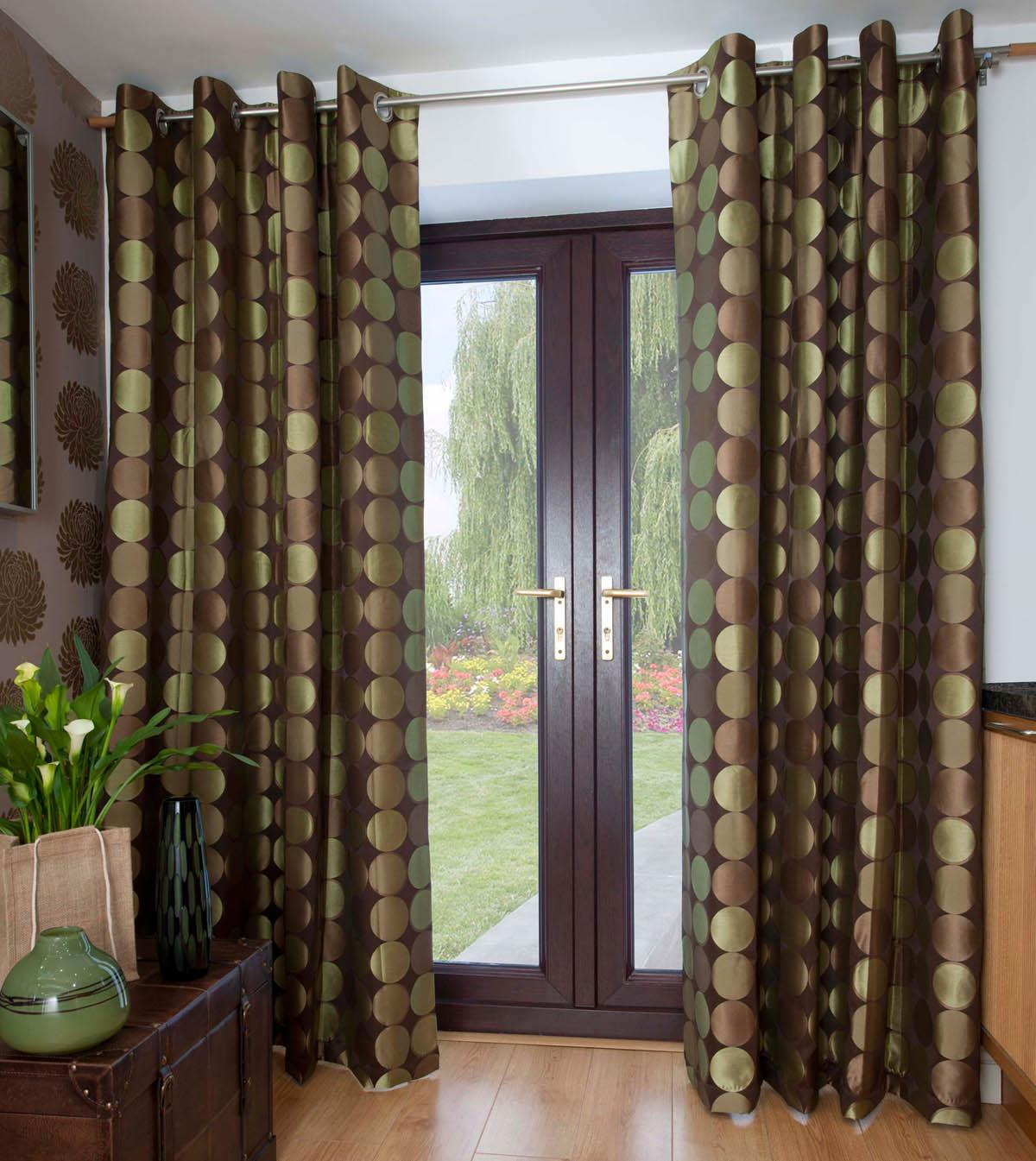 Aloe Jasper Ready Made Eyelet Curtains