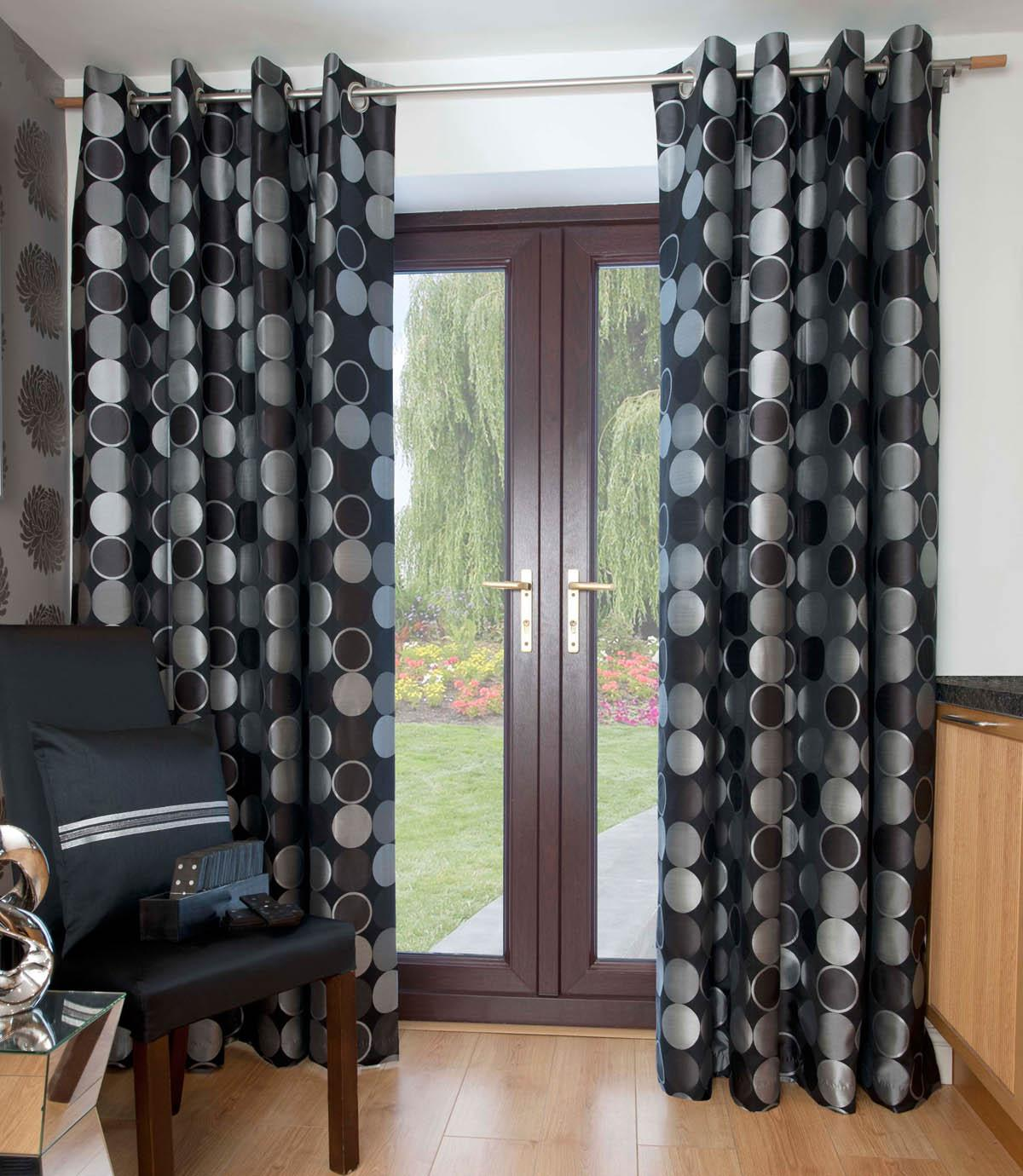Sparkle Jasper Ready Made Eyelet Curtains