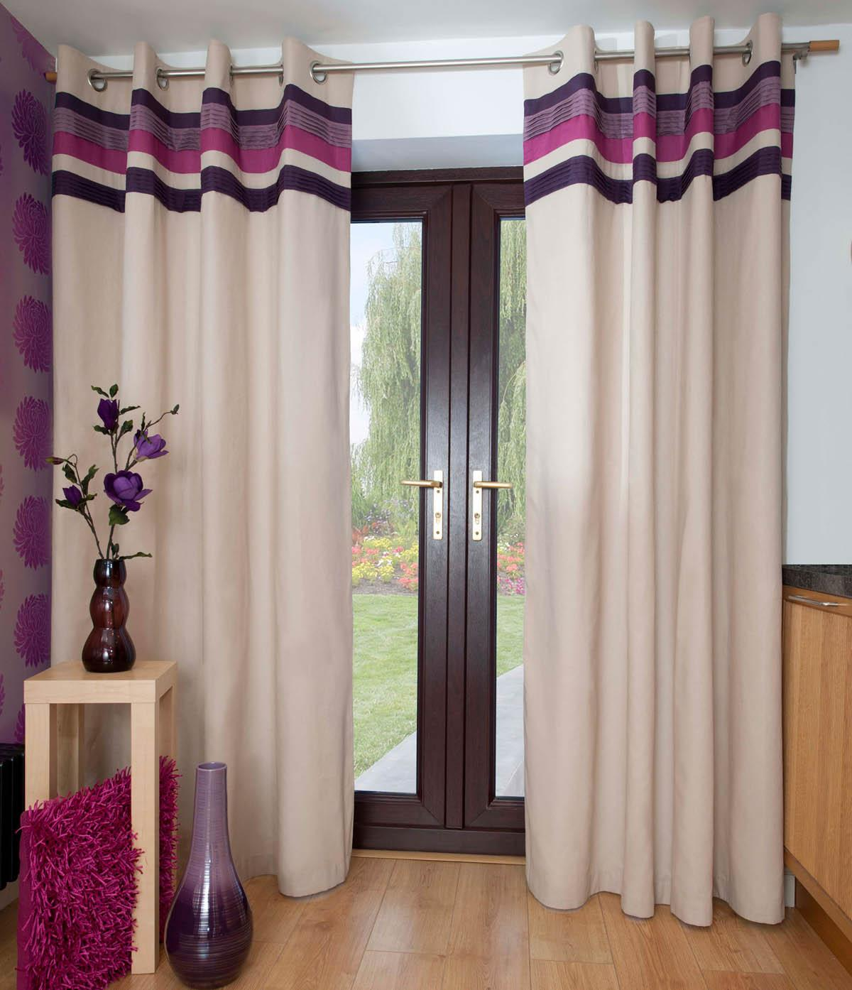 Grape Envy Ready Made Eyelet Curtains
