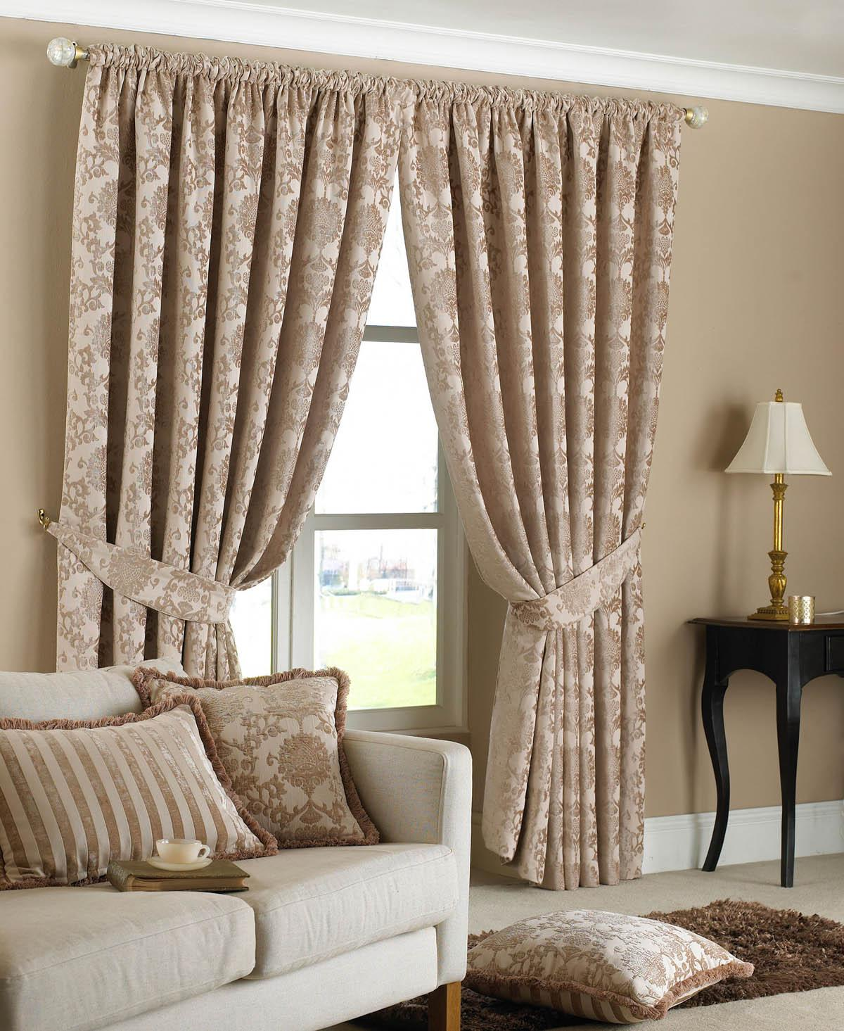 Beige Hanover Ready Made Curtains