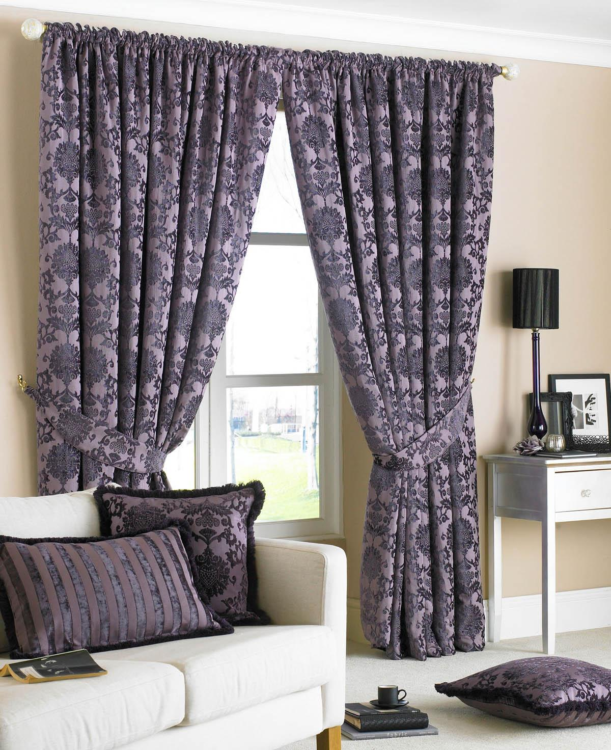 Damson Hanover Ready Made Curtains