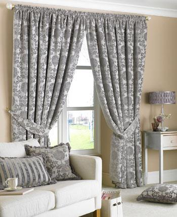 Silver Hanover Ready Made Curtains