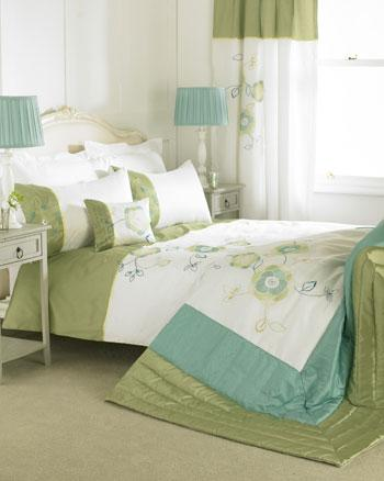 Green Mirage Embroidered Duvet Cover