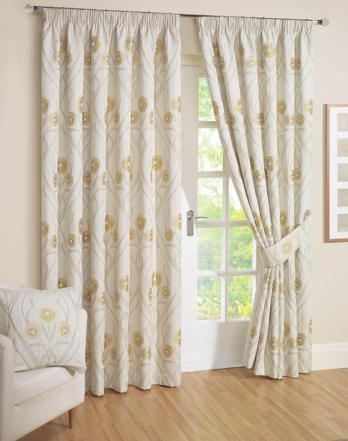 Cream Montrose Ready Made Curtains