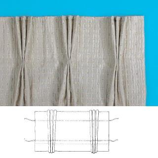 White Pinch Pleat Pleat Curtain Tape
