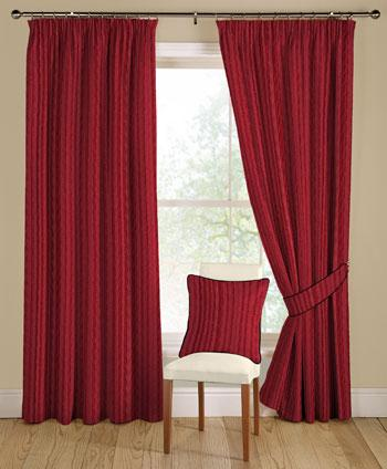 Red Orleans Ready Made Curtains