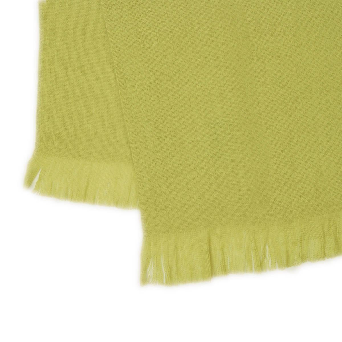 Lime Woven Bed Scarf