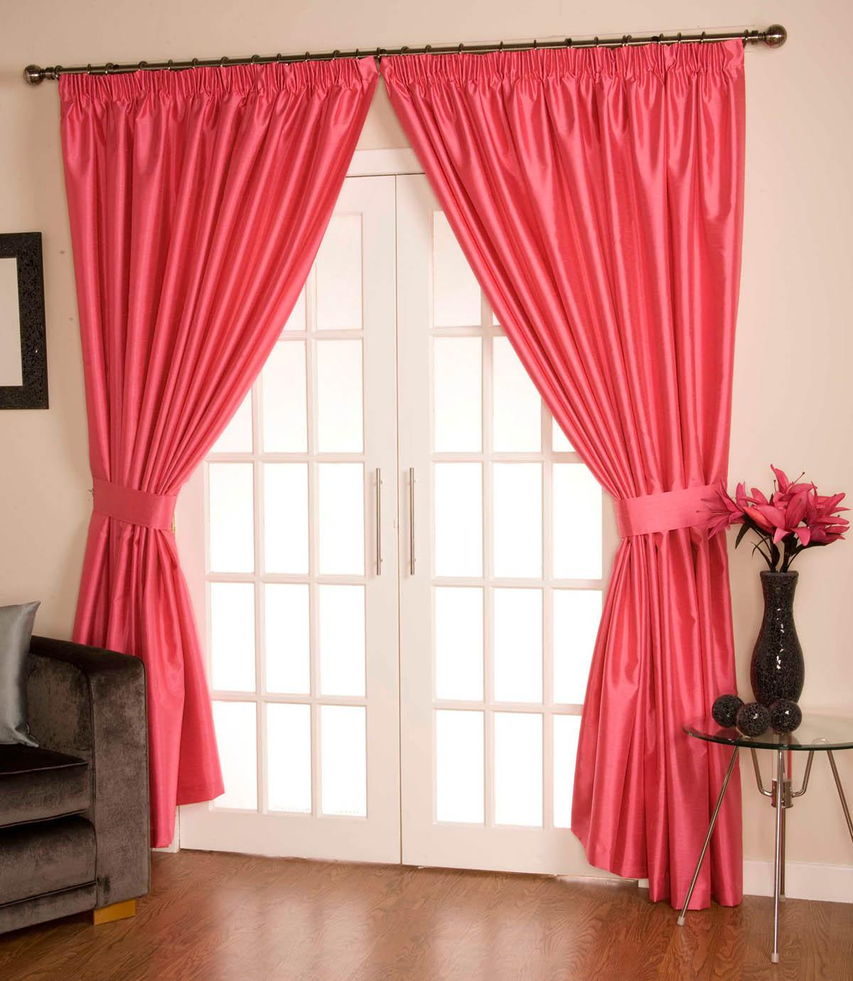 Hot Pink Ready Made Curtains