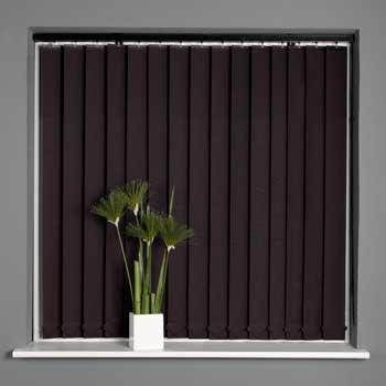 Stripe Black Vertical Blinds