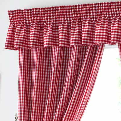 gingham value curtains red free uk delivery terrys fabrics