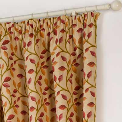 Chartwell Vines Tapestry Ready Made Lined Curtains