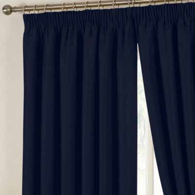 Hudson Ready Made Curtains In Navy Free Uk Delivery
