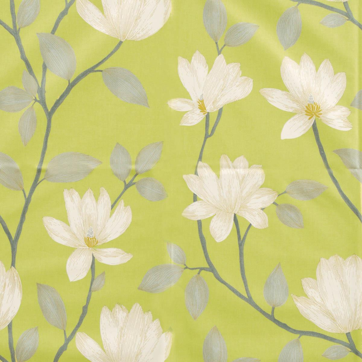 Magnolia Chartreuse Curtain Fabric Free UK Delivery Terrys Fabrics